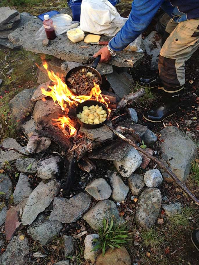 Cooking-over-a-campfire