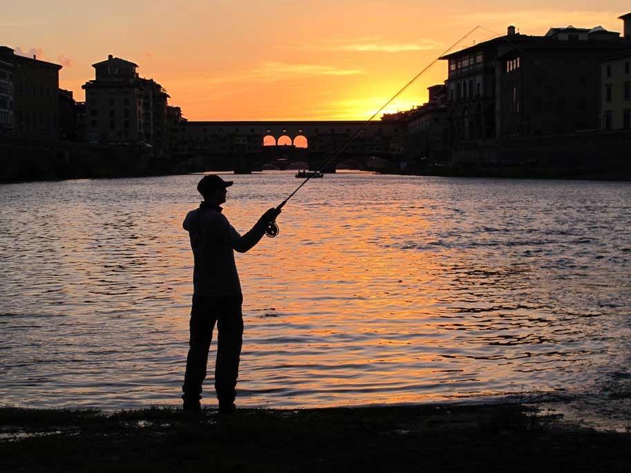 Florence-fishing-at-sunset